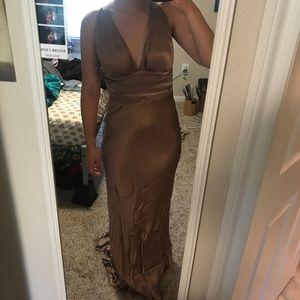 Brand New Silk Open Back Dress